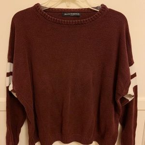 brandy melville double striped knit sweater